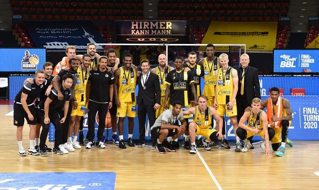 Die Mannschaft der MHP Riesen Ludwigsburg