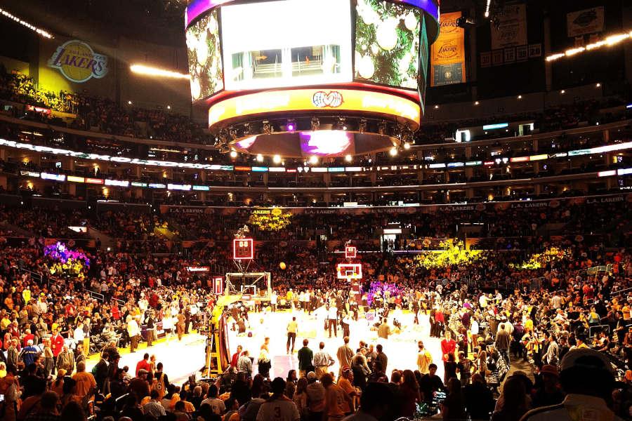 Ein Spiel der Lakers im Staples Center