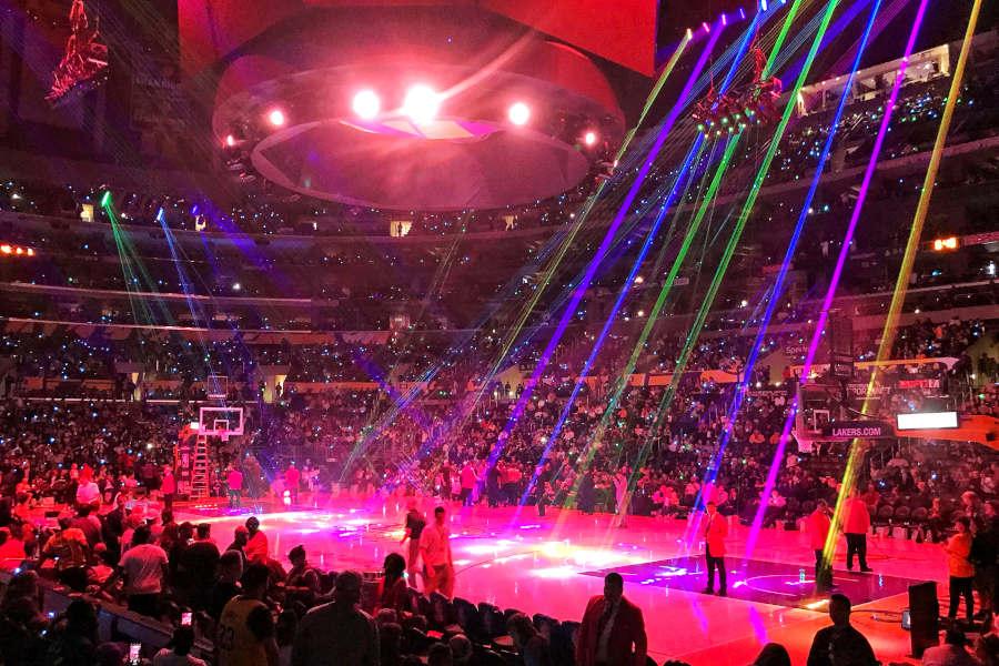 Lightshow der Lakers