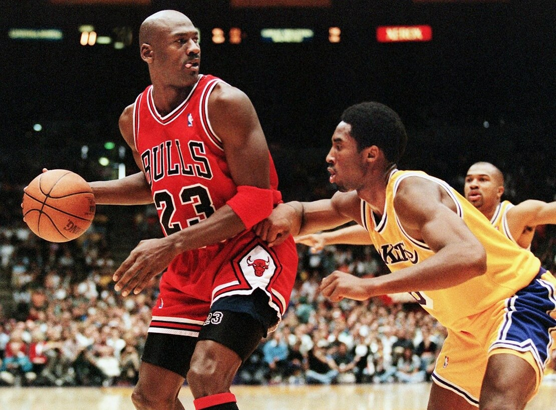Michael Jordan und Kobe Bryant
