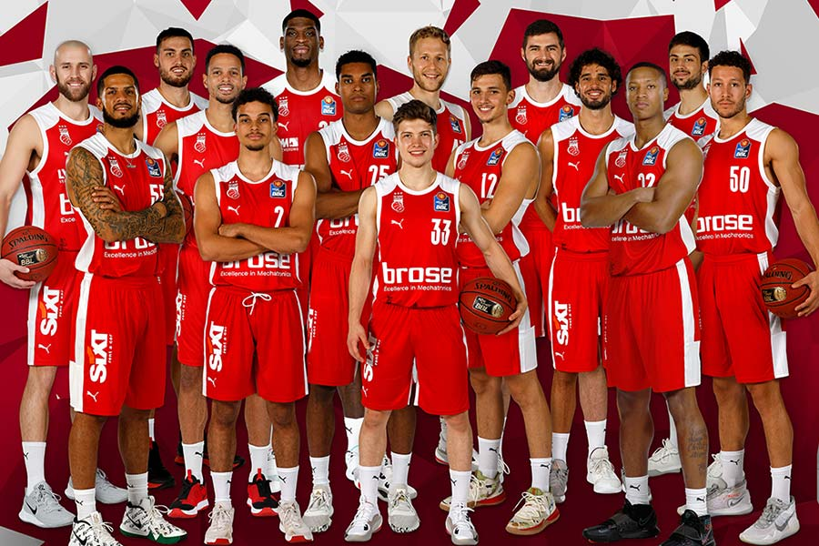 Teamfoto Brose Bamberg 2020/21