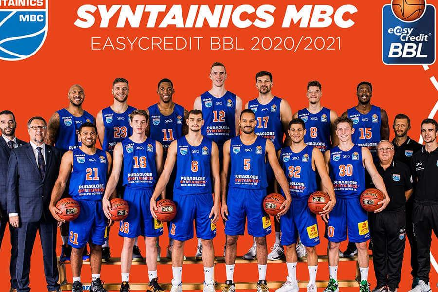 Teamfoto des Mitteldeutschen BC 2020/21