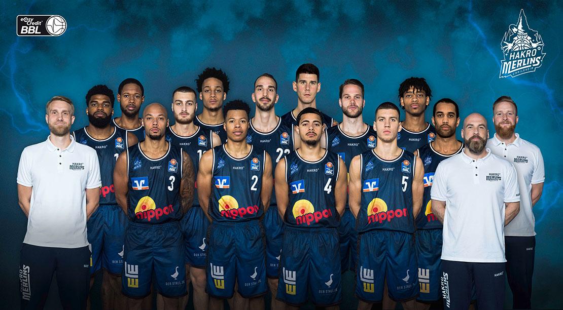 Teamfoto der HAKRO Merlins Crailsheim von 2020/21