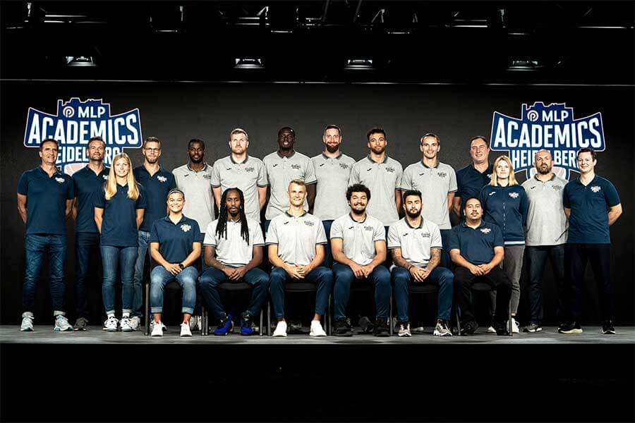Teamfoto der MLP Academics Heidelberg 2021/22